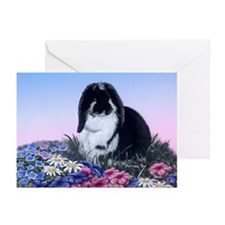 French Lop & Flowers Greeting Cards (Pk of 20)
