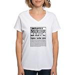 Jack The Ripper Women's V-Neck T-Shirt