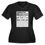 Jack The Ripper Women's Plus Size V-Neck Dark T-Sh