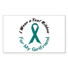 Teal Ribbon For My Girlfriend 4 Decal