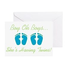 Boy Oh Boys - Twin Shower Invitations (Pk of 10)