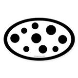 Dalmatian spots oval sticker