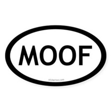 Moof oval sticker