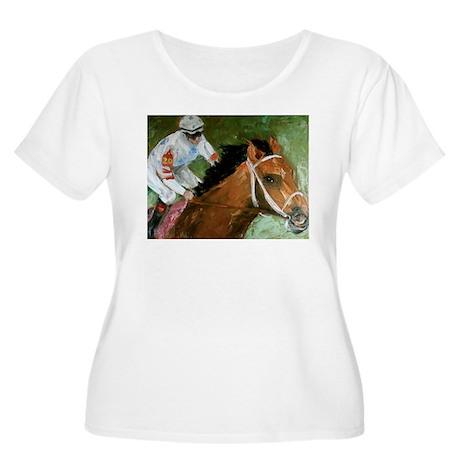 Big Brown Women's Plus Size Scoop Neck T-Shirt