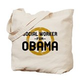 Social Worker for Obama Tote Bag