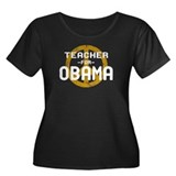 Teacher for Obama Women's Plus Size Scoop Neck Dar