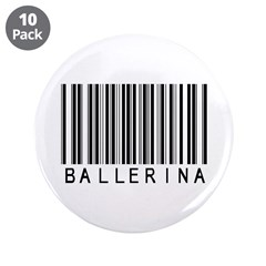 "Ballerina Barcode 3.5"" Button (10 pack)"