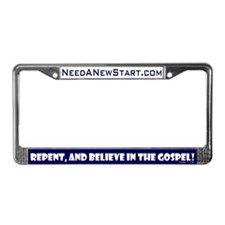 Repent & Believe License Plate Frame
