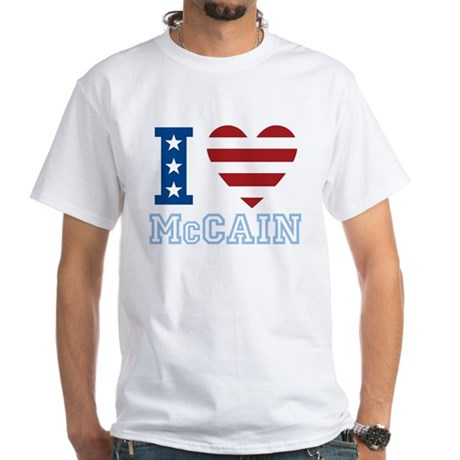 I Love McCain White T-Shirt