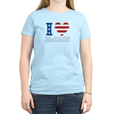 I Love McCain Women's Light T-Shirt