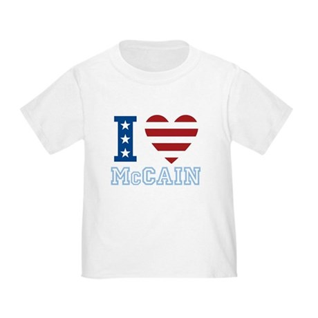 I Love McCain Toddler T-Shirt
