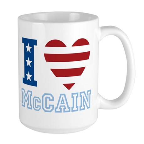 I Love McCain Large Mug
