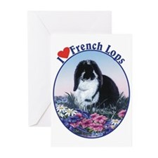 I love French Lops Greeting Cards (Pk of 10)