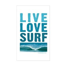 Live, Love, Surf - Rectangle Decal