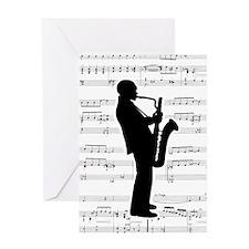 Jazz Saxophone Greeting Card