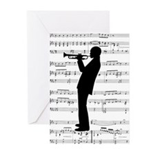 Jazz Trumpeter Greeting Cards (Pk of 20)