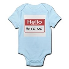 Bite Me Name Tag Infant Bodysuit