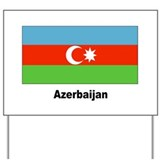 Azerbaijan Flag Yard Sign