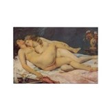 Courbet's Sleep Rectangle Magnet