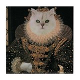 Cat ELIZABETH I Tile Coaster
