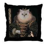 Cat ELIZABETH I Throw Pillow