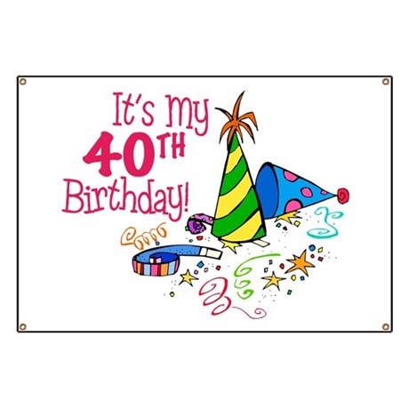 40Th Birthday Cartoons http://www.cafepress.com/+its_my_90th_birthday_balloons_banner,370660838