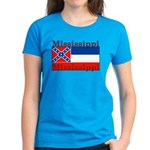 Mississippi State Flag Women's Dark T-Shirt