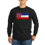 Mississippi State Flag Long Sleeve Dark T-Shirt