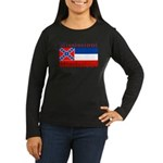 Mississippi State Flag Women's Long Sleeve Dark T-