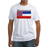 Mississippi State Flag Fitted T-Shirt