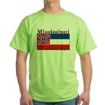 Mississippi State Flag Green T-Shirt