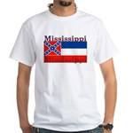 Mississippi State Flag White T-Shirt