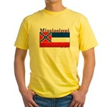 Mississippi State Flag Yellow T-Shirt