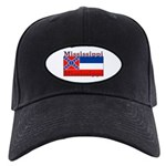 Mississippi State Flag Black Cap