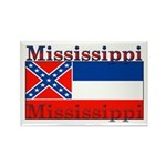 Mississippi State Flag Rectangle Magnet (100 pack)