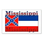Mississippi State Flag Rectangle Sticker