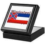 Mississippi State Flag Keepsake Box