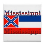 Mississippi State Flag Tile Coaster
