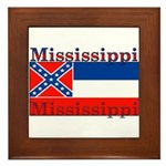 Mississippi State Flag Framed Tile