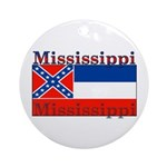 Mississippi State Flag Ornament (Round)