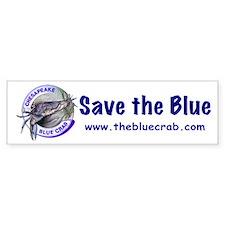 """""""Save the Blue"""" Bumper Bumper Sticker"""