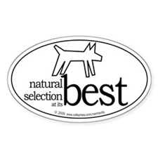 Natural Selection (dog) Oval Decal
