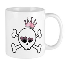 Pretty Princess Skull Coffee Mug