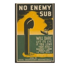 No Enemy Sub Postcards (Package of 8)