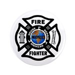 "Firefighters Think Green 3.5"" Button (100 pac"
