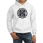 Firefighters Think Green Hooded Sweatshirt