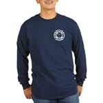 Firefighters Think Green Long Sleeve Dark T-Shirt
