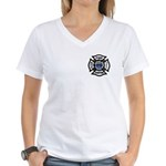 Firefighters Think Green Women's V-Neck T-Shirt