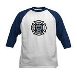 Firefighters Think Green Kids Baseball Jersey