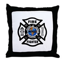 Firefighters Think Green Throw Pillow